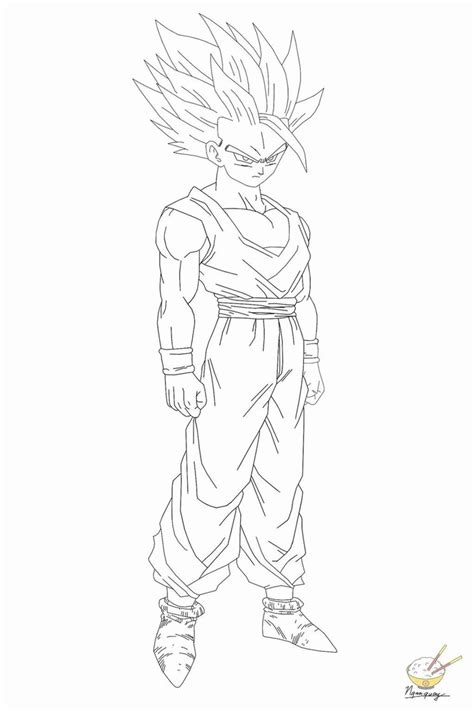 gohan super saiyan 2 coloring pages coloring home