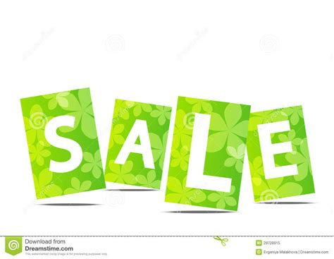 Green For Sale Green Summer Sale Text Royalty Free Stock Photo Image