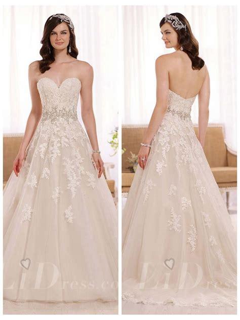 Applique A Line Dress a line sweetheart lace appliques wedding dress