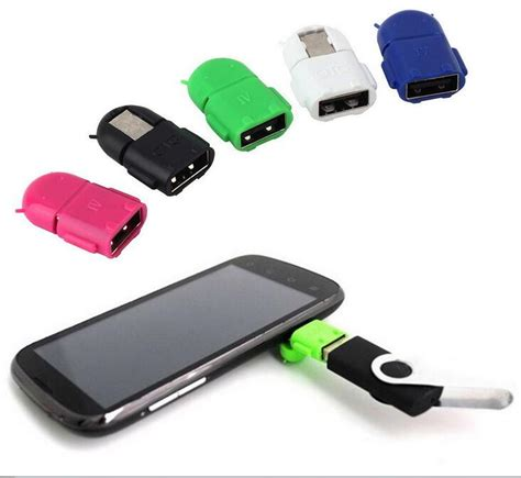 android usb newest universal android smart phone robot shape micro usb to usb mini otg adapter for