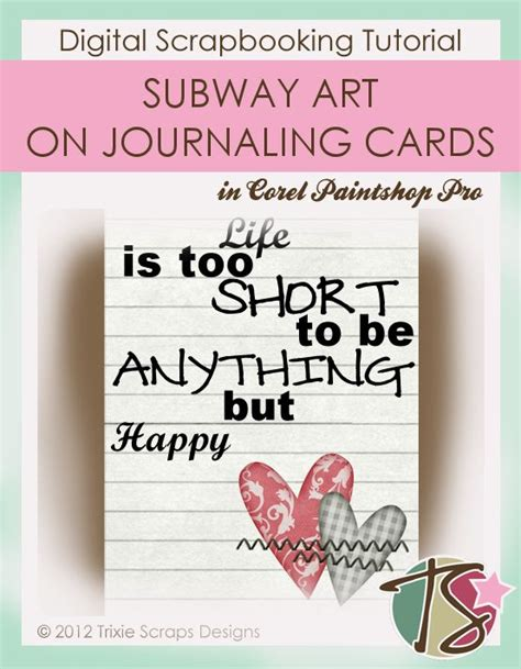 How To Use Subway Gift Card - how to use subway word art on journaling cards trixie scraps designs