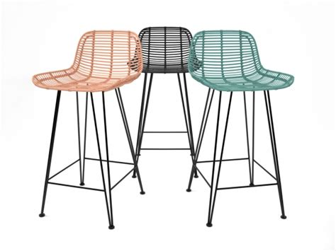 Rattan Bistro Bar Stools by Rattan Barstool 3d Model Hk Living