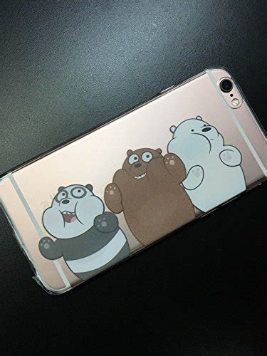 We Bare Bears Grizzly Iphone All Hp we bare bears grizzly panda transparency cover for iphone iphone 5 5s 6 6 plus 6s