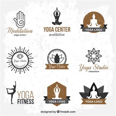 yoga imagenes logos logo templates yoga desenhados m 227 o baixar vetores gr 225 tis