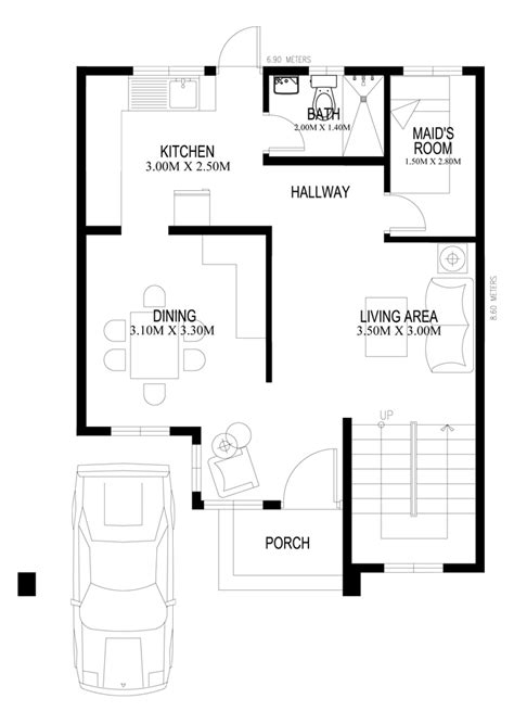Home Design Story Room Dimensions Two Storey Houseplans 2014005 Ground Floor Plan House