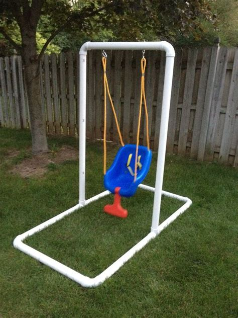 steel swing set plans homemade infant swing stand 65 00 what you ll need
