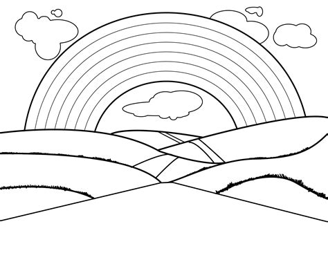 Pictures Of Rainbows To Color by Free Printable Rainbow Coloring Pages For