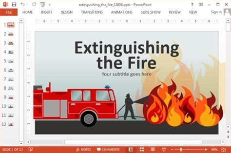 animated fire brigade powerpoint templates
