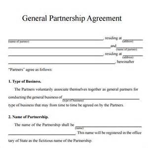 Partnership Agreement Template California Sample Partnership Agreement 13 Free Documents Download