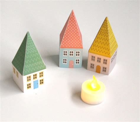 How To Make A Small Paper House - remodelaholic printable mini house luminaries