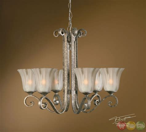 chandelier silver lyon contemporary 6 light silver chandelier 21146