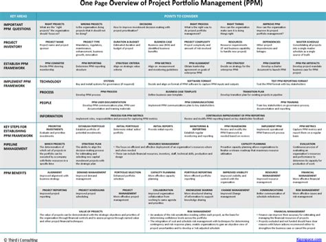 8 Project Overview Templates Free Download One Page Project Overview Template