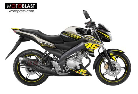 Kaos Otomotif Motor Suzuki Hayate 125 Fonttshirt Balapbaju Kaos Pria modif new vixion titanium gold valentino 46 motoblast