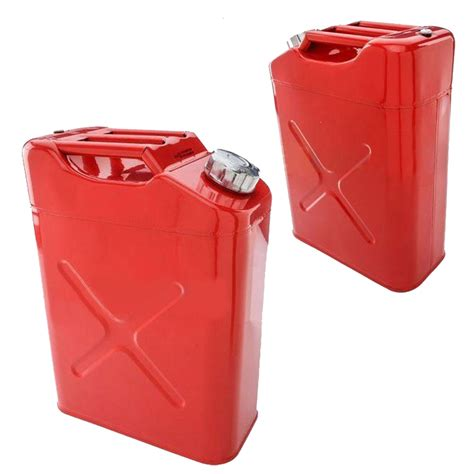 L Gallon by 20l Liter 5 Gallon Gal Jerry Steel Tank Fuel Can Gas