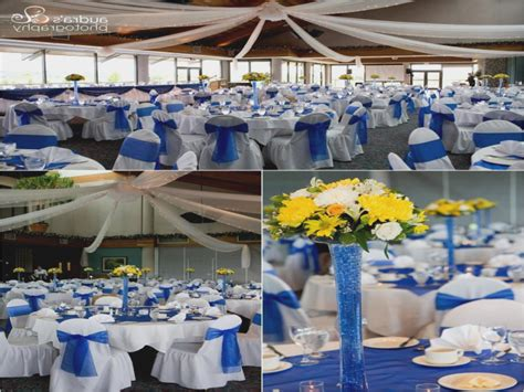 blue and yellow decor royal blue and yellow wedding ideas decorating of party