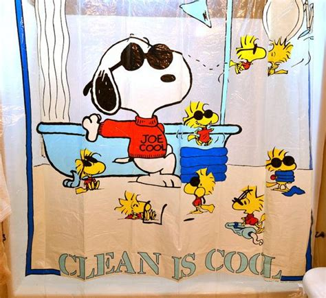 snoopy bathroom vintage peanuts snoopy shower curtain bathroom decor