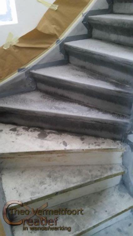 Betonlook Op Hout Aanbrengen by Betonnen Trap Betonlook Op Hout Betonverf Trap Interieur