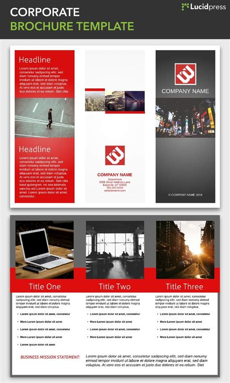 corporate brochure template 23 best free brochure templates images on free