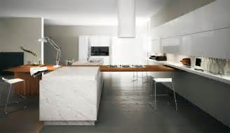 Contemporary Kitchen Design Ideas by Modern Kitchen With Luxury Wooden And Marble Finishes