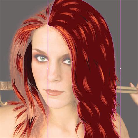 pattern illustrator hair create hair in illustrator tutorial adobe illustrator
