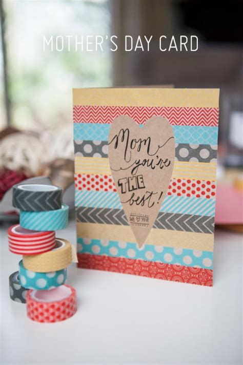 handmade mothers day cards step by step 31 diy mother s day cards diy washi tape cards diy and