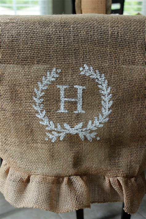 diy initial burlap table runner the hamby home