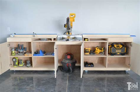 Miter Saw Station and Storage   buildsomething.com