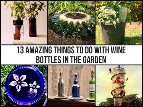 purple frogz diys 13 amazing things to do with wine bottles in the garden