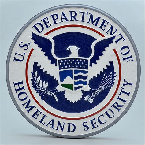 us department of homeland security 14 wall plaque