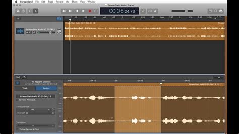 Garageband Export Selection Editing Audio With Garageband Cutting And Exporting