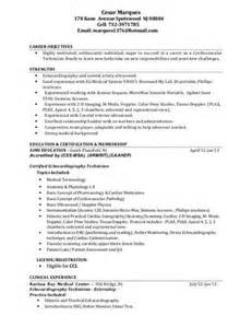 Sonographer Resume Sle by Sonographer Resume Sle Ultrasound Technician Sle