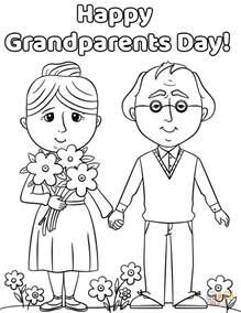 happy grandparents day coloring page free printable