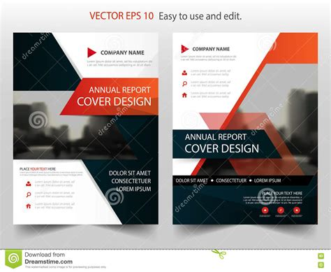 brochure and magazine layout design vector red black abstract annual report brochure design template