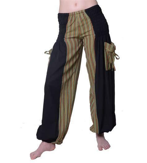 Muster Goä Rechnung Hippie Goa Damenhose Mit Gestreiftem Muster Freizeithose Sommerhose Ebay