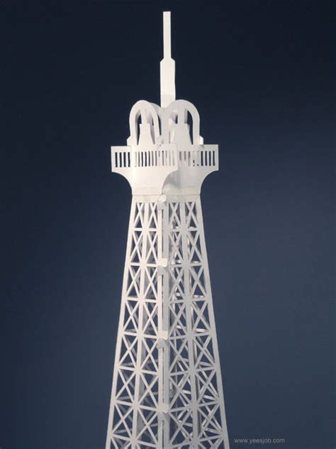Pop Up Cards Templates Ifle Tower by The Eiffel Tower Pop Up Card Origami Architecture Kirigami