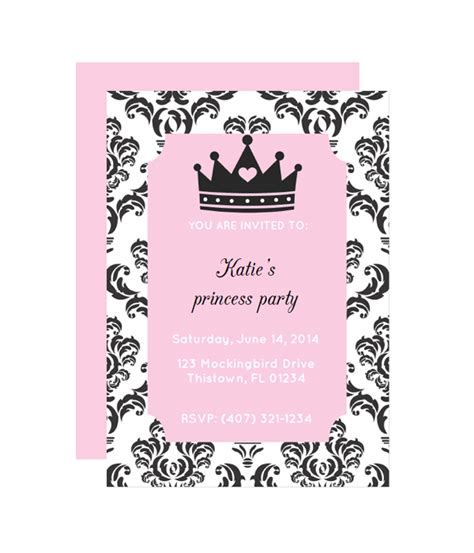 free printable princess birthday invitations princess invitation chicfetti