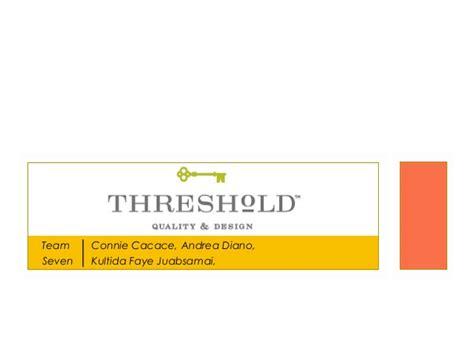 target threshold target threshold presentation