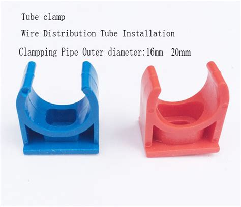 Klem Pipa Pvc 20 Mm Clipsal 100 Pcs pvc u shape clip cl for wire distribution install cable protecting od 20mm
