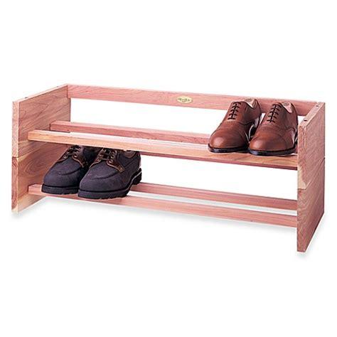 shoo rack bathroom buy woodlore shoe rack from bed bath beyond