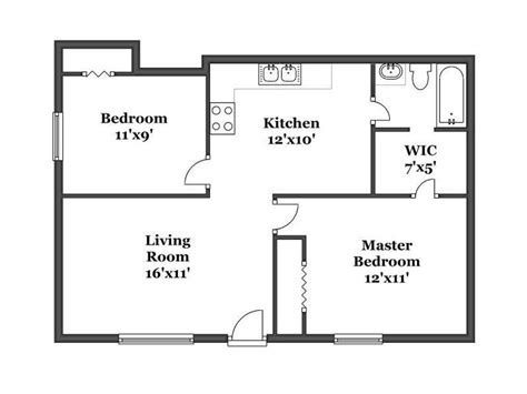 simple 2 bedroom floor plans bedroom house plans 2 bedroom house simple plan single
