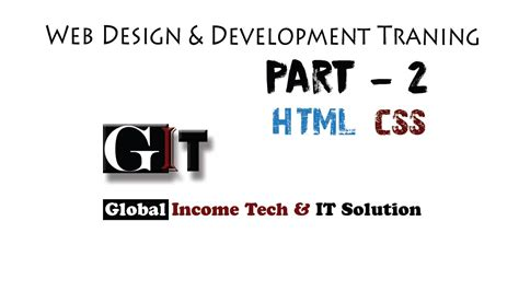 tutorial on web design and development web design and development bangla tutorial part2 html