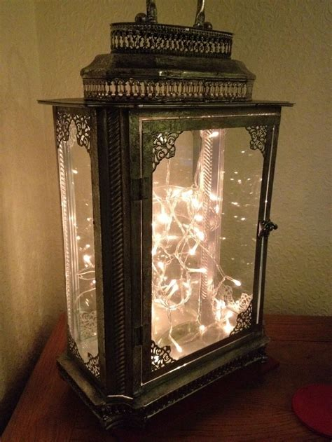 Metal Lantern With Fairy Lights Wedding Ideas For Future Lights And Lanterns