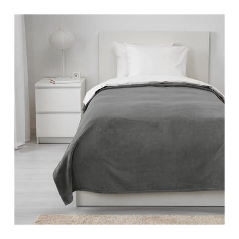Ikea Vitmossa Selimut Fleece 120x160cm Abu Abu trattviva penutup tempat tidur 150x250 cm ikea