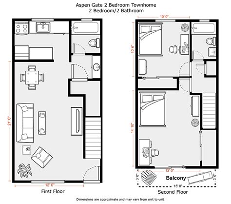 two bedroom townhouse plans 2 bedroom townhouse floor plans www pixshark com