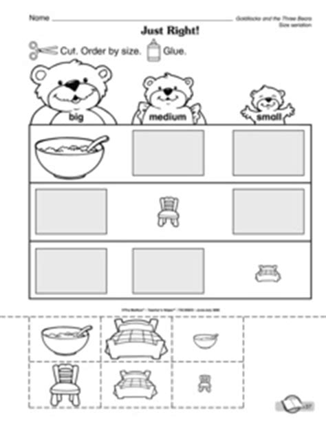 results for goldilocks and the three bears preschool