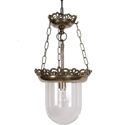 Heritage Lighting by Ceiling Pendant Lantern Light Antique Brass Glass