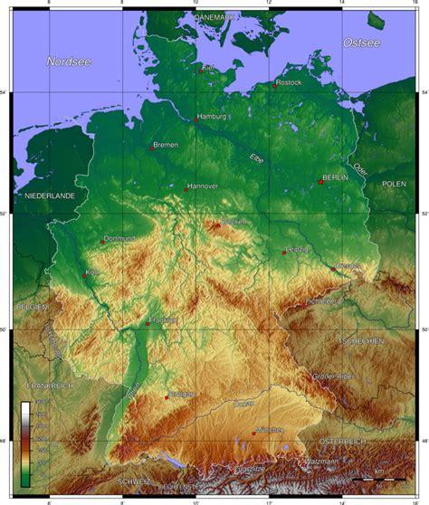 gebirgskarte deutschland deutschland topographische karte medienwerkstatt