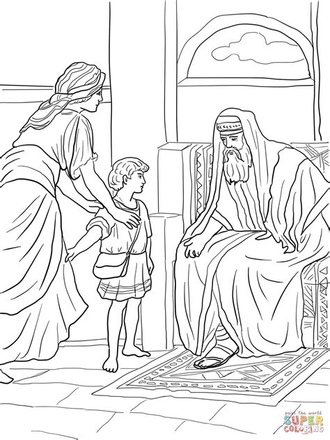 samuel bible story coloring page coloring pages
