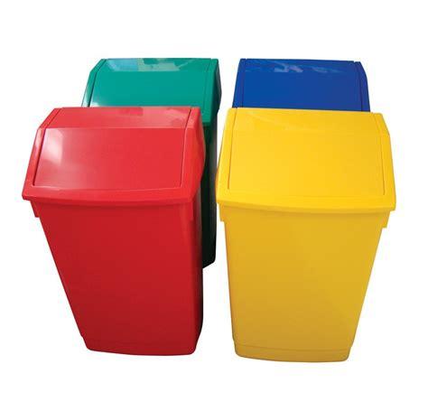 plastic swing bin addis 54ltr plastic swing top litter bin