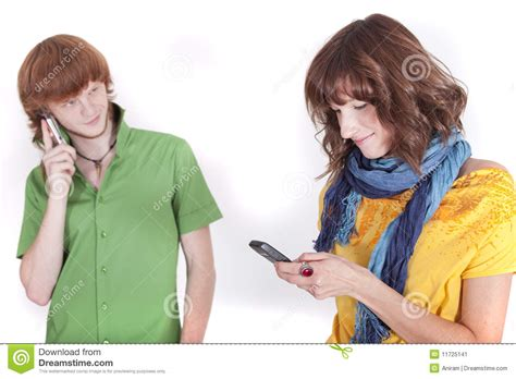 Phone For Couples On Phone Stock Image Image 11725141